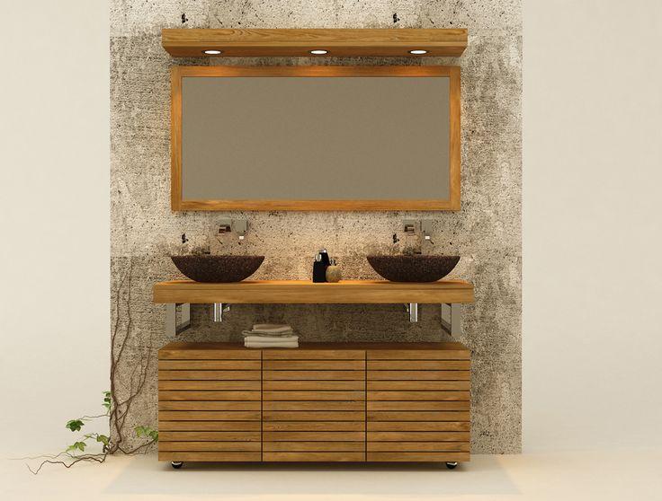 Muebles de ba os en madera de teca accesorios de for Muebles de teca interior