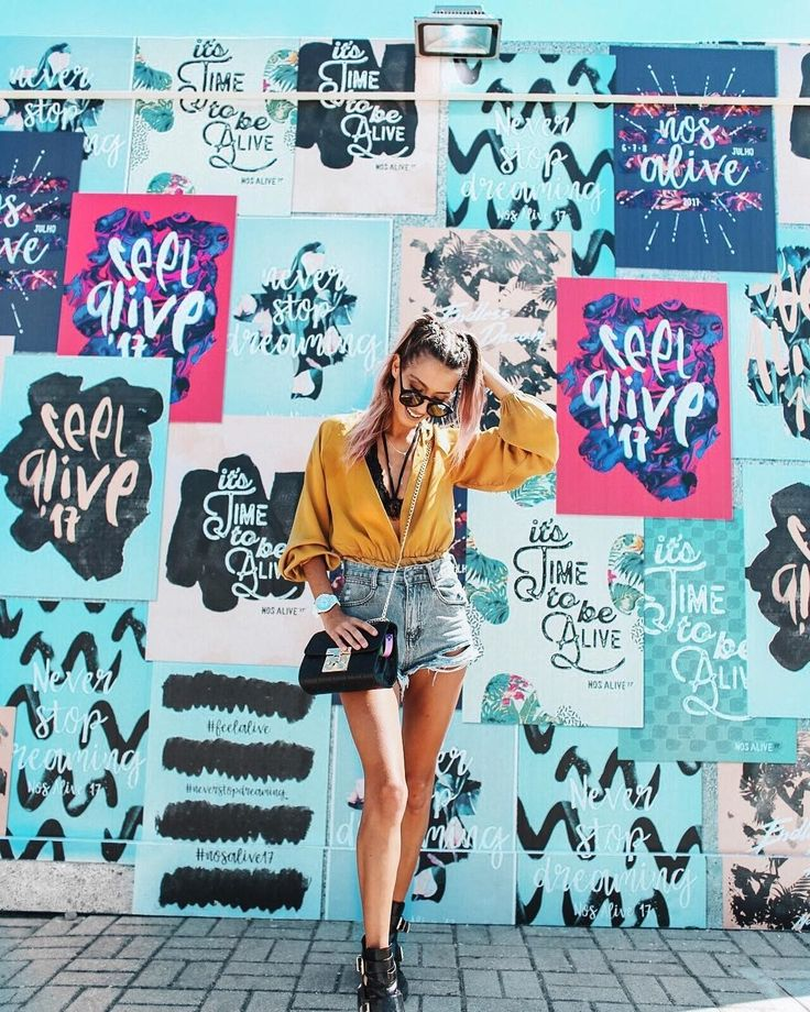 This Summer's New It Destination for Models and Influencers Is #Portugal's Beaches - via W Magazine 09-07-2017 | See the best of Portugal's coastline and other attractions as documented on Instagram for your vicarious travel fix, here. Photo: Lifestyle blogger Sofia Reis at NOS Alive festival in Portugal, July 2017.