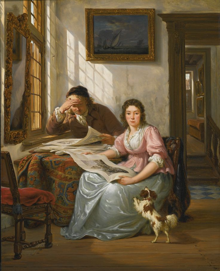 Abraham van Strij, Interior with a collector and his wife
