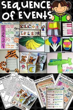 """Oh Sequence of Events! How many times have we said; """"First, Next, Then, Finally""""? Get your students engaged with this unit for Sequence of Events that can be used with ANY book!"""