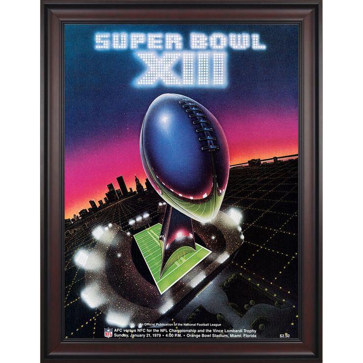 "Fanatics Authentic 1979 Steelers vs. Cowboys Framed 36"" x 48"" Canvas Super Bowl XIII Program"