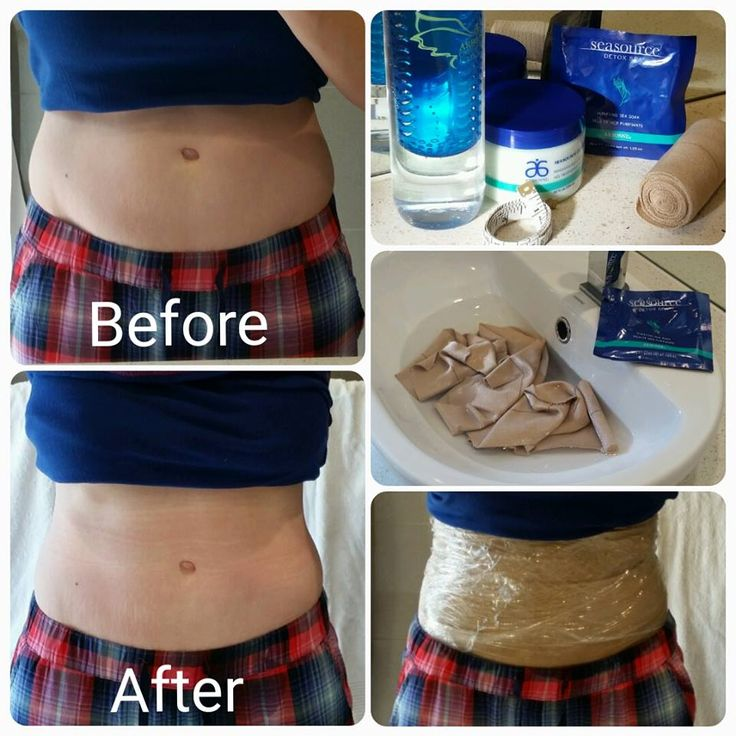 My very own tummy trying our Arbonne Skinny Wrap for the first time ever after an indulgent weekend in Vegas.