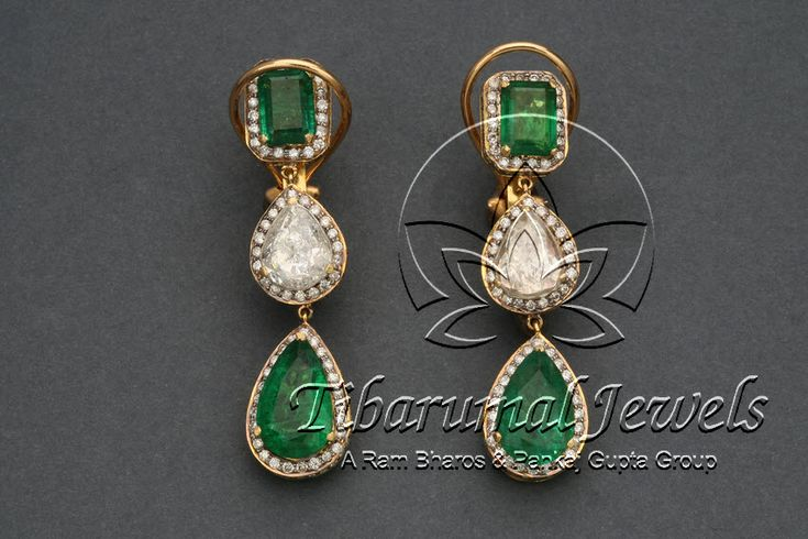 Diamond Ear Tops | Tibarumal Jewels | Jewellers of Gems, Pearls, Diamonds, and Precious Stones