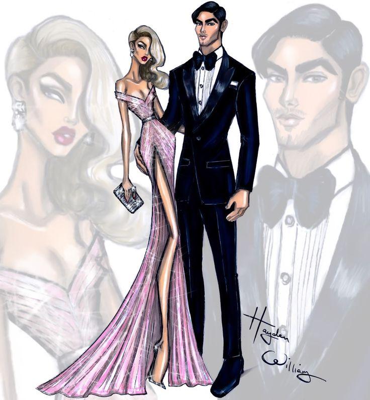 Hayden Williams Fashion Illustrations: Golden Globes Glam 2016 by Hayden Williams