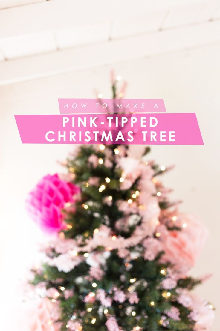Hot pink christmas decorations - Diy Pink Tipped Honeycomb Christmas Tree