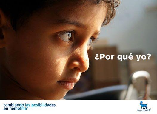 ¿Por qué yo?   Es una de las primeras preguntas que formula en niño en relación con la #hemofilia.  Se convierte en su pregunta fundamental