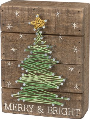Item # 32626 | String Art - Merry and Bright | Primitives by Kathy