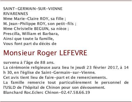 Accédez à l'espace dédié à Roger LEFEVRE sur dansnoscoeurs.fr