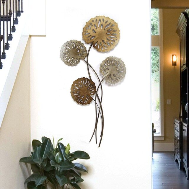Stratton Home Decor Water Lilies Metal Wall Decor In 2020 Metal Wall Decor Wall Decor Stratton Home Decor