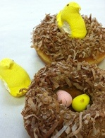 "The ""Protect Your Nest Egg"" Donut from Psycho Donuts."