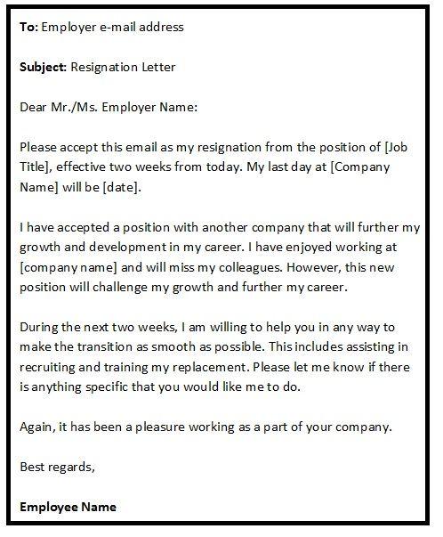 Best 20+ Resignation Email Sample ideas on Pinterest