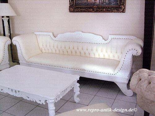 Ledersofa modern weiß  Die besten 25+ Barock sofa Ideen auf Pinterest | Barockschloss ...