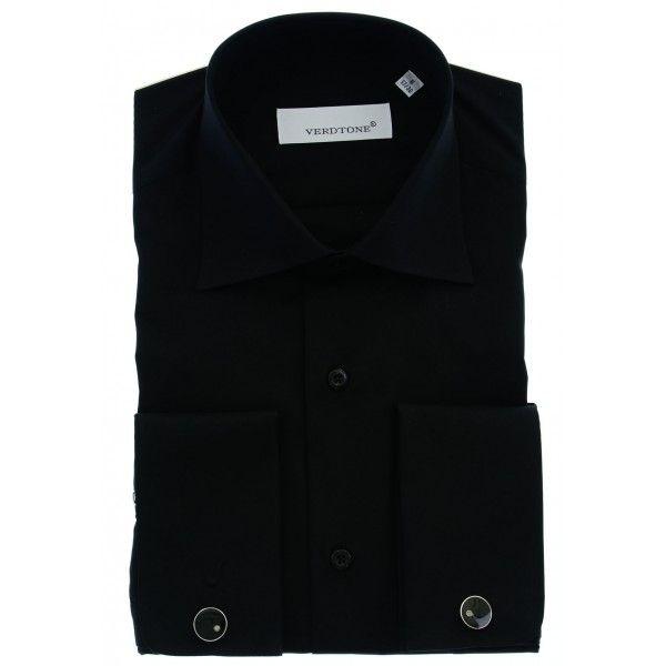 Klasik Düz Siyah Kol Düğmeli Gömlek - 1010-110A-02 http://www.verdtoneshop.com/gomlek/klasik-duz-siyah-kol-dugmeli-gomlek.html