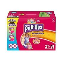 Huggies - Pull-Ups Training Pants for Girls, Size 2T-3T (18-34 lbs.), 90 ct.