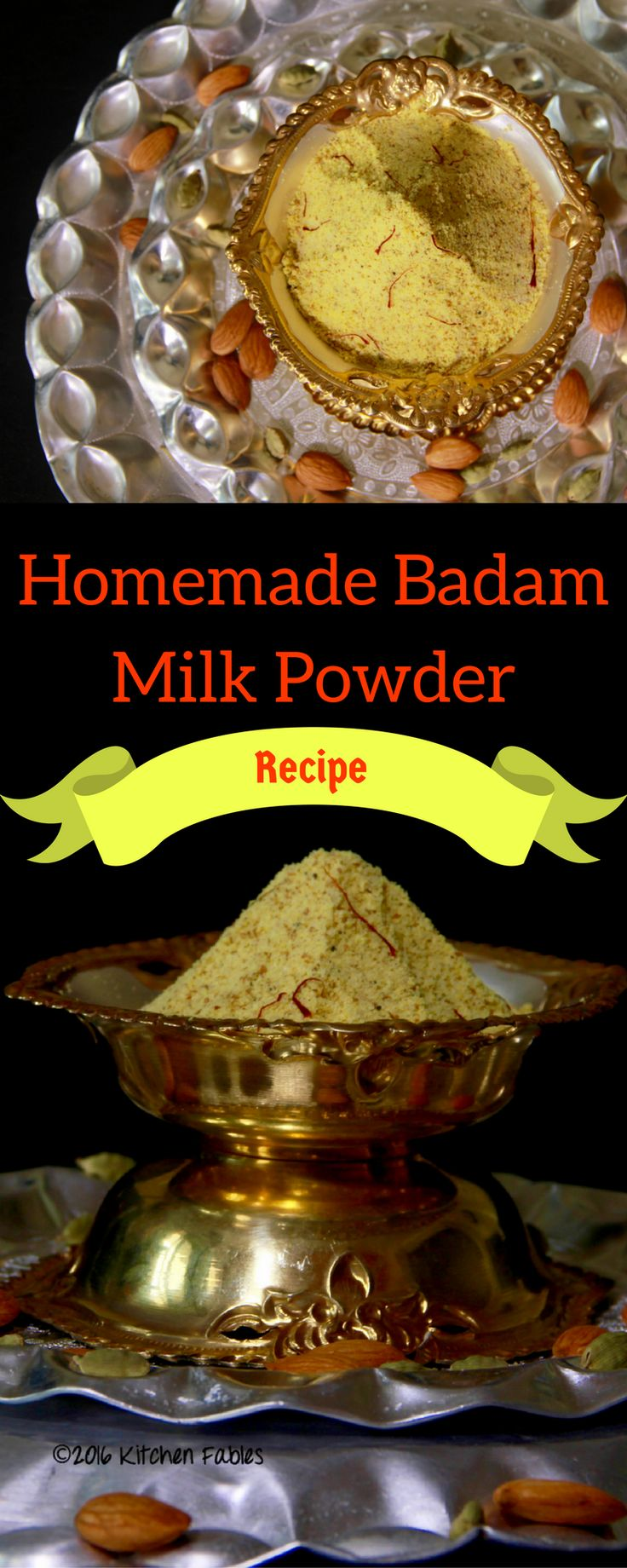 Recipe for Healthy Home Made Badam Milk Powder with minimal Sugar. Use it with…