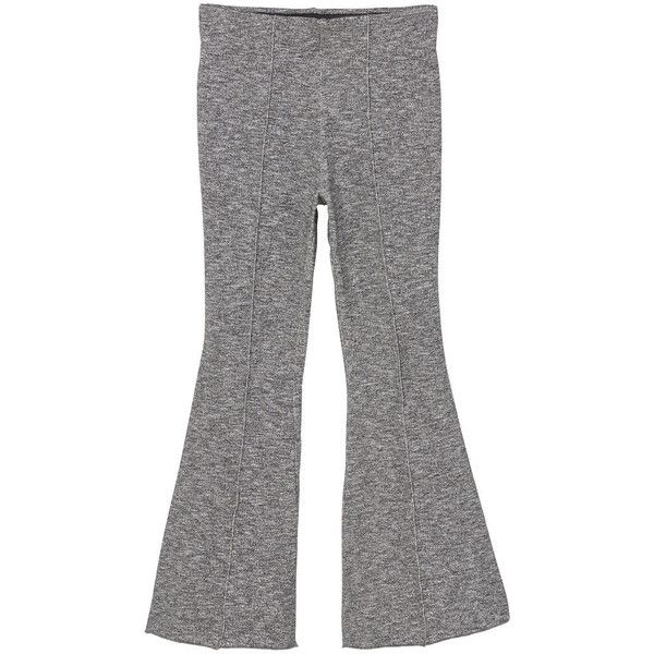 Flared Cotton-Blend Trousers (€23) ❤ liked on Polyvore featuring pants, mango trousers, flare pants, flare trousers, elastic waistband pants and flared pants