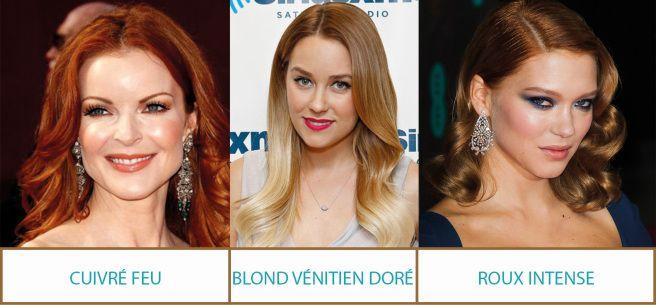 conseils-cheveux-profil-couleur-automne CONSEILS COIFFURE: Choisir des nuances chaudes et flamboyantes: Blond fauve, blond vénitien, blond or, marron cuivré, auburn, roux intense, cuivre feu…