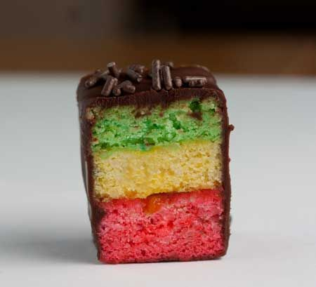 Italian Wedding Cookies, Rainbow Cookies, Tri-Color Cookies – pick the name you like, these little cakes of pink, yellow and green are less complicated than you think, but it's helpful to know a few things before making them.