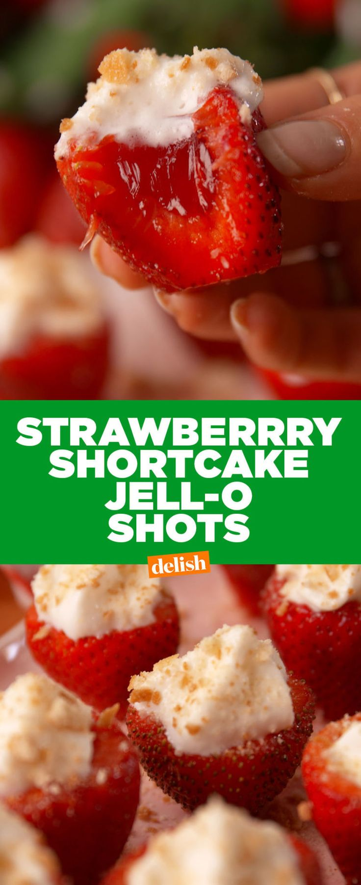Strawberry Shortcake Jell-O Shots Are Our Go-To Boozy Summer Snack :: As cute as they are strong!