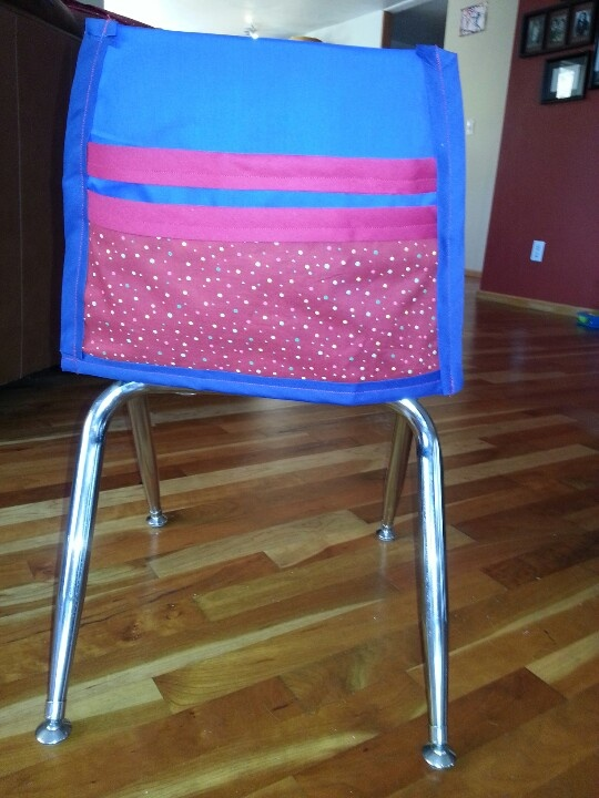 Custom made chair covers for my daughter s kindergarten classroom they have tables not desks