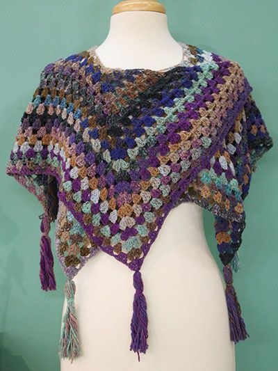 Free Crochet Pattern Download -- This Blue Lagoon Shawl, designed by Jenny King, is featured in episode 10, season 6 of Knit and Crochet Now! TV. Learn more here: https://www.anniescatalog.com/knitandcrochetnow/patterns/detail.html?pattern_id=194&series=2