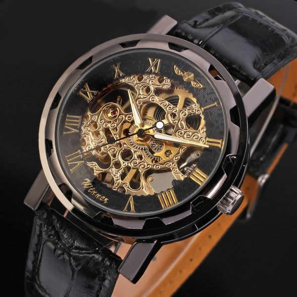 IMPORTANT NOTE: Use drop-down menu to select the correct product. Just clicking the product picture will NOT give you the right style when you check out. Men's Luxury Mechanical Wristwatch - From 11 C