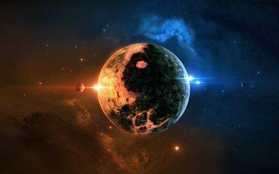 Planet space art wallpaper