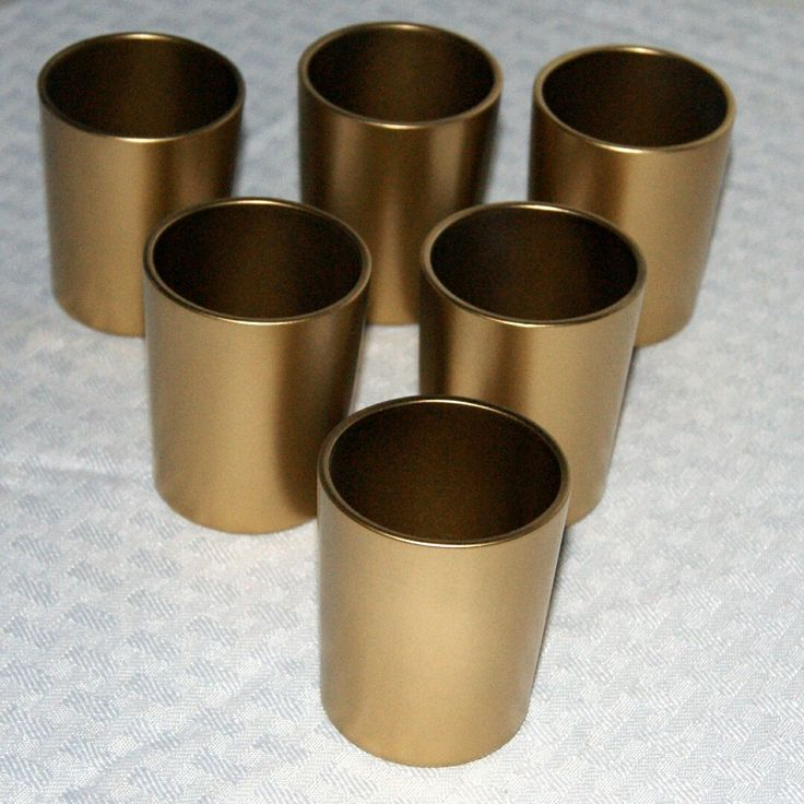 HAPPY 30th BIRTHDAY GAVIN! Gavin ordered these 6 Metallic Gold Votive Candle Holder for her 30th Birthday party.  She is having an Art Deco Theme. Our gold votives have 3 coats of paint! They are fabulous for many different party themes.