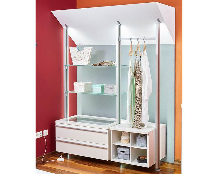 Begehbarer Kleiderschrank Dachboden ~ Begehbarer Kleiderschrank VENDUNA ist eine ideale Lösung für das