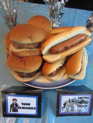 Han Burgers and Hoth Dogs for Star Wars Party! - Crafty Party