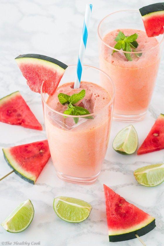 Coconut Watermelon & Lime Juice – Χυμός με Καρπούζι, Καρύδα & Λάιμ - The Healthy Cook