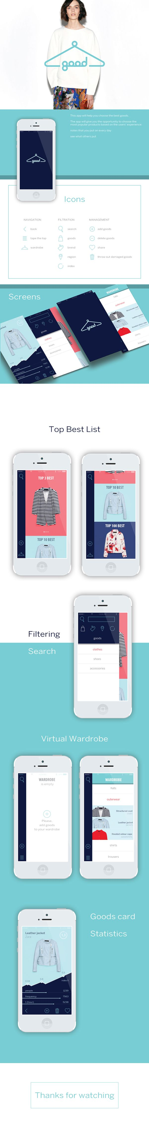 Iphone App GOODGOODS by Daniliuk Viktoryia, via Behance