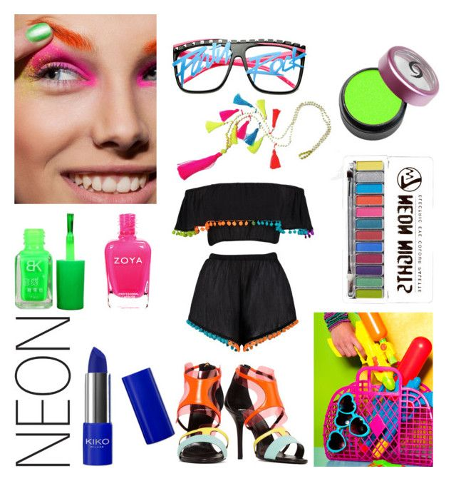 """""""Neon"""" by clori86 ❤ liked on Polyvore featuring beauty, Boohoo, Pierre Hardy, Beauty and neon"""