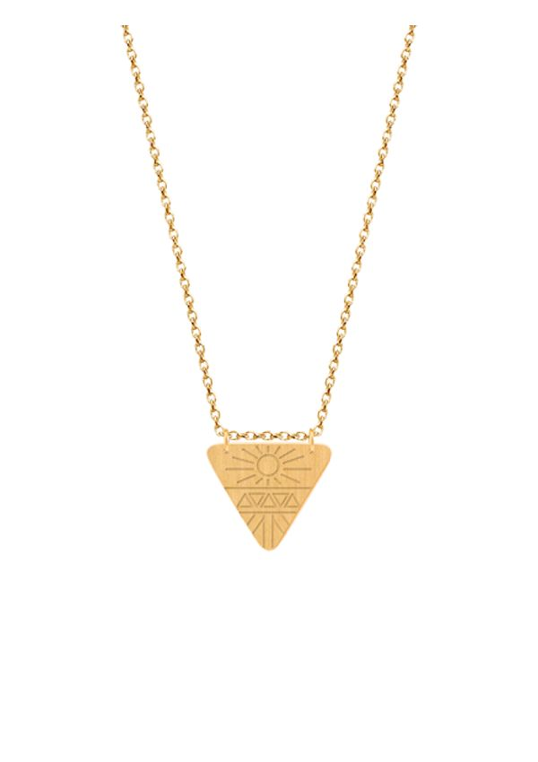 Colar Omnia Aztec em prata com banho de ouro