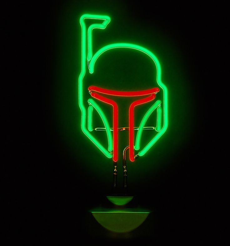 Star Wars Living Room Art: Star Wars Boba Fett Neon Table Light