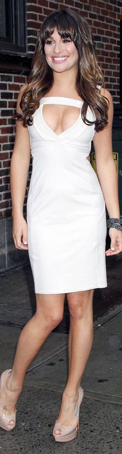 A cream cocktail dress with cut out detail by AMEN #sexy #white