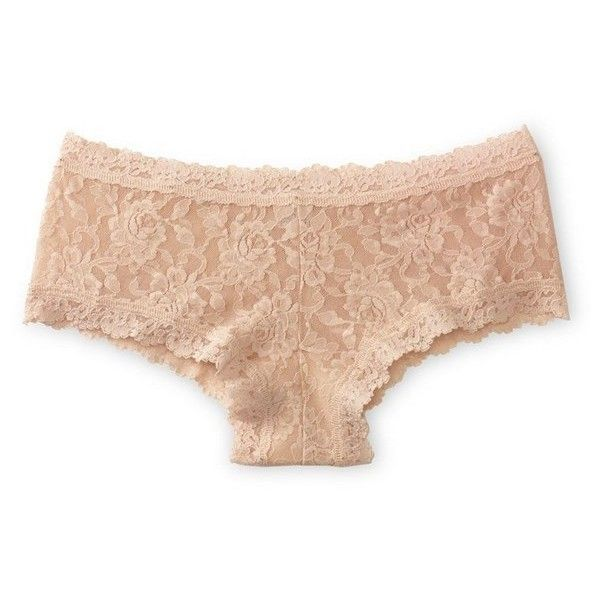 Women's Hanky Panky 'Signature Lace' Boyshorts ($32) ❤ liked on Polyvore featuring intimates, panties, underwear, intimate, lingerie, chai, boy shorts panty, lace boy short panties, hanky panky lingerie and boyshort panties