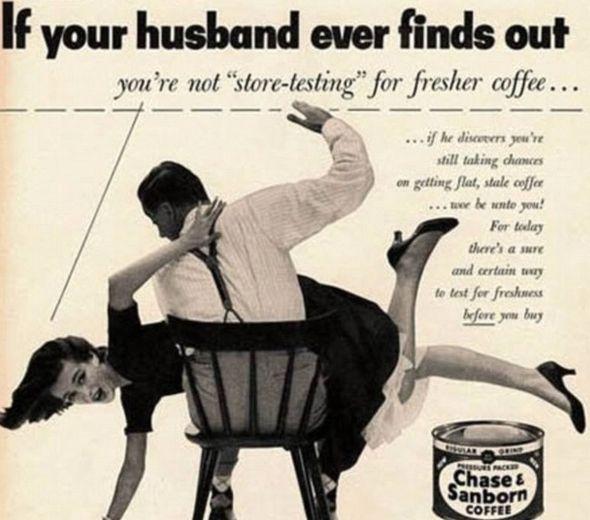 Outrageous Vintage Ads: Stuff, Funny, Vintage Advertisement, Vintage Ads, Husband, Sanborn Coffee, Vintage Advertising