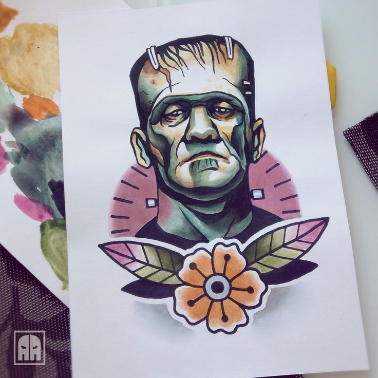 Top 25+ best Frankenstein tattoo ideas on Pinterest ...  Top 25+ best Fr...