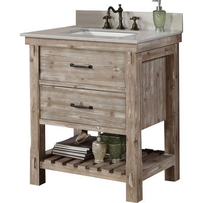 """InFurniture WK Series 31"""" Single Bathroom Vanity Set & Reviews   Wayfair"""