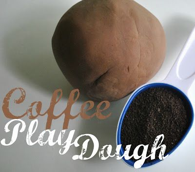 Coffee Playdough. awesome multi-sensory experience sensory for the kiddos. Scented playdough is always a huge hit with my classes