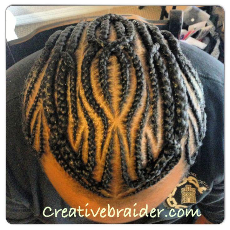 Men freestyle cornrows #menbraids #cornrows #creative #braids #freestyle