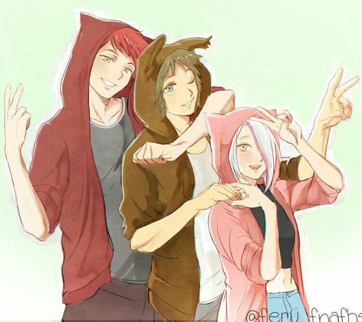 Foxy, Springtrap y Mangle