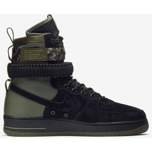 Nike SF Air Force 1 Men's Boot. Nike.com ($180) ❤ liked on Polyvore featuring men's fashion, men's shoes, men's boots, mens shoes, mens boots, nike mens shoes and nike mens boots