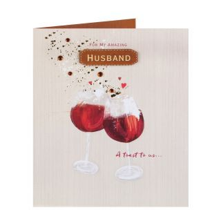 A Toast To Us Husband Anniversary Card