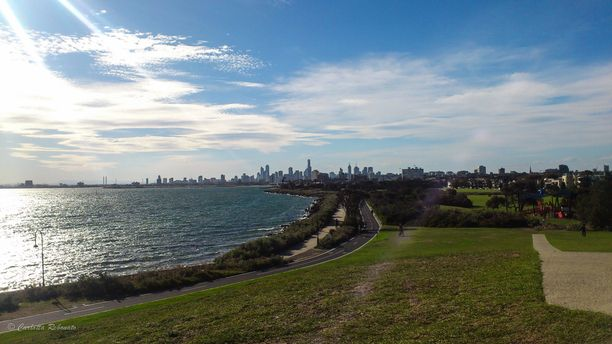 Point Ormond, Elwood, Australia — by Carlotta Rebonato. In Point Ormond, just after the marina of St Kilda, you will find some public barbecues. This is the view that you... http://nomadswind.com/the-best-of-melbourne/