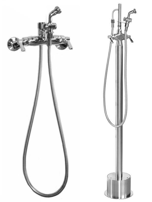 Stainless Steel Freestanding Outdoor Shower Shower Systems Faucet Shower