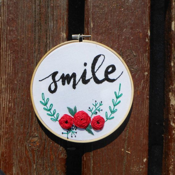 embroidery hoop art hand embroidery wall hanging nursery wall decor quote embroidery flower embroidery wall art personalized quote fiber art