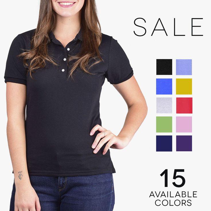 Jerzees Womens SpotShield Jersey Polo 50/50 Solid Sport Polo Tee Shirt 437W