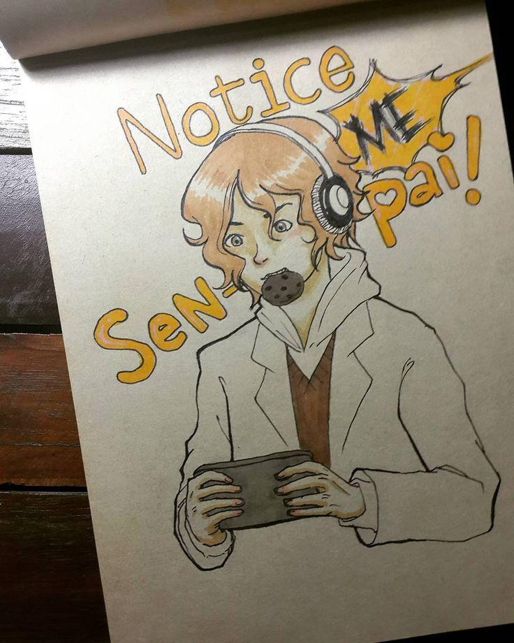 The Senpai Who Wouldn't Notice Me #noticemesenpai #fanart #androidgame